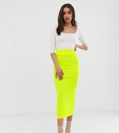 Желтая юбка макси в рубчик эксклюзивно для Boohoo - Желтый