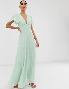Фактурное платье макси с рукавами-кимоно Y.A.S. - Бежевый