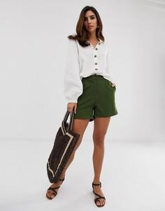 Зеленые строгие шорты Y.A.S - Темно-синий