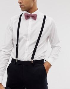 Черные подтяжки Twisted Tailor - Черный