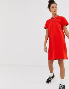 Платье мини с воротником поло Noisy May - Красный