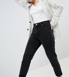 Черные джинсы в винтажном стиле из органического хлопка с завышенной талией Monki Taiki - Черный