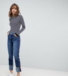 Прямые джинсы с контрастными полосками Esprit - Синий