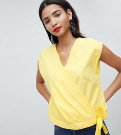 Укороченная блузка с завязкой Esprit - Желтый