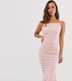 Асимметричное платье миди Missguided - Розовый