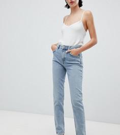 Синие джинсы скинни с завышенной талией Weekday way - Синий