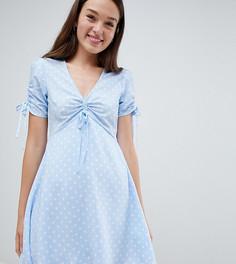 Чайное платье в горошек Pimkie - Синий