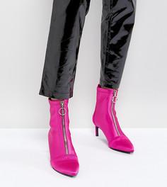Сапоги на каблуке-шпильке с молнией Stradivarius - Розовый