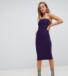 Фиолетовое платье миди в бандажном стиле Missguided - Фиолетовый