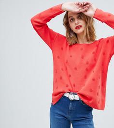 Джемпер в горошек Esprit - Красный