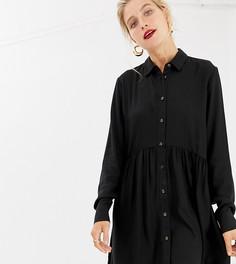 Черное платье-рубашка Stradivarius - Черный