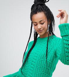 Зеленый фактурный джемпер крупной вязки Esprit - Зеленый
