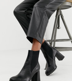 Черные ботинки на каблуке Stradivarius - Черный