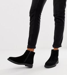 Черные замшевые ботинки на плоской подошве River Island - Черный