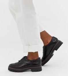 Черные массивные броги на шнуровке New Look - Черный