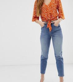 Выбеленные джинсы в винтажном стиле Miss Selfridge - Синий