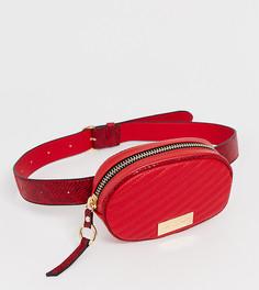 Красная круглая сумка на поясе River Island - Красный
