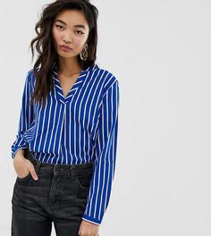 73eb6252036 Синяя блузка в белую полоску с v-образным вырезом Esprit - Синий
