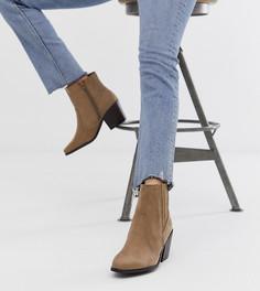 Светло-коричневые ботинки на каблуке в стиле вестерн New Look - Коричневый