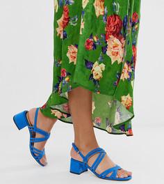 Синие босоножки на каблуке с ремешками Miss Selfridge - Синий