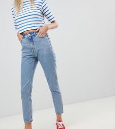 Синие джинсы в винтажном стиле из органического хлопка с завышенной талией Monki Kimomo - Синий
