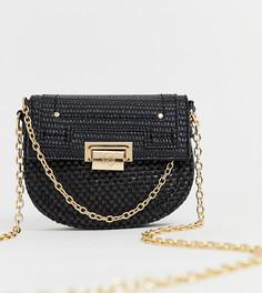 Черная сумка через плечо с цепочками River Island - Черный