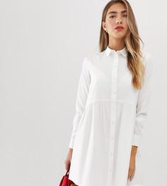 Белое платье-рубашка Stradivarius - Белый