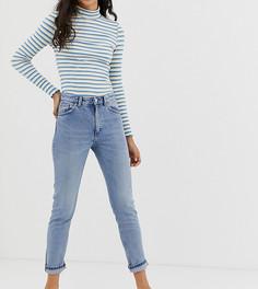 Синие джинсы из органического хлопка с классической талией Monki Moop - Синий