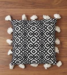Квадратная подушка с кисточками и геометрическим принтом River Island - Мульти