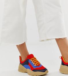 Низкие кроссовки в стиле колор блок Monki - Золотой