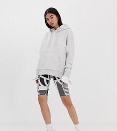Серые леггинсы-шорты с абстрактным принтом Weekday - Мульти