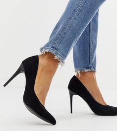 Черные туфли-лодочки с острым носом New Look - Черный