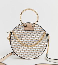 Кремовая сумка через плечо с круглой ручкой River Island - Кремовый