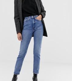 13a31e2dbab Облегающие джинсы прямого кроя с завышенной талией Weekday - Синий