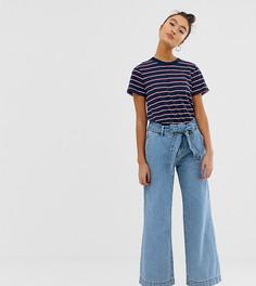 Широкие голубые джинсы с поясом Pimkie - Синий