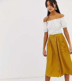 Желтая юбка миди New Look - Желтый