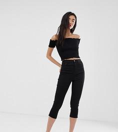 Черные брюки капри Stradivarius - Серый