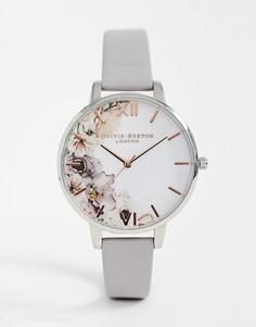 Часы с кожаным ремешком Olivia Burton OB16PP32 Watercolour Florals - Серый