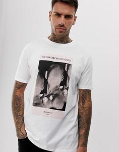 Белая футболка с принтом HUGO Deginners - Белый