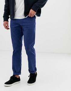 Синие прямые саржевые брюки с 5 карманами Esprit - Синий