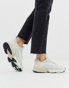 Бежево-мятные кроссовки adidas Originals Yung-1 - Белый