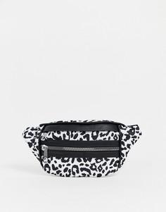 Сумка-кошелек на пояс с леопардовым принтом Yoki - Мульти