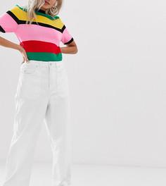 Укороченные джинсы с широкими штанинами и карманами Vero Moda Petite - Белый