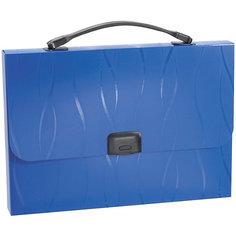 Портфель пластиковый ErichKrause Evo, A4, синий