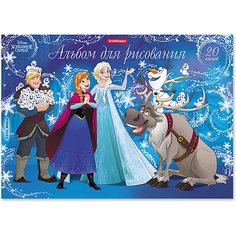 Альбом для рисования на клею ErichKrause «Холодное сердце. Эльза и волшебство Северного сияния», А4, 20 листов Disney