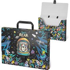 Портфель пластиковый ErichKrause Space Bear, A4