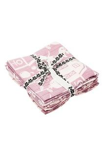 Набор розовых хлопковых пеленок Sebra