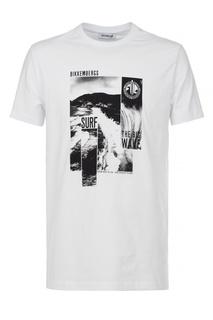 Белая футболка с монохромным принтом Dirk Bikkembergs