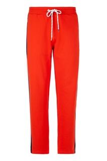 Оранжевые спортивные брюки Dirk Bikkembergs