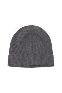 Серая кашемировая шапка Prada